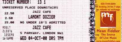 Jazz Café Ticket