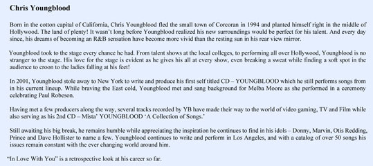Chris Youngblood Bio