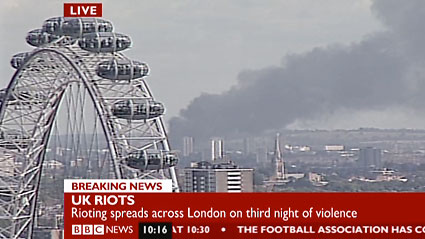 Rioting London